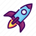astronomy, business, launch, rocket, transpotation icon