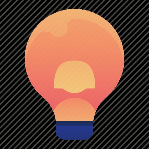 creative, female, idea, lightbulb, thought, woman icon