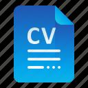 curriculum, cv, document, information, vitae icon