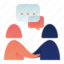 chat, communication, conversation, deal, female, woman