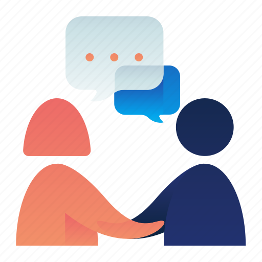 Chat, communication, conversation, deal, female, male icon - Download on Iconfinder