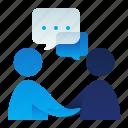 chat, communicaiton, conversation, deal, male, man