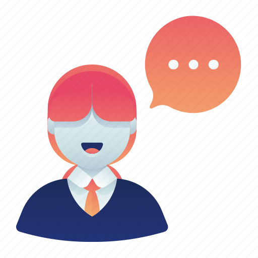 chat, conversation, female, formal, service, woman icon