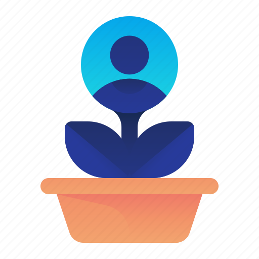 business, growth, male, man, plant icon