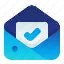 employment, hired, letter, mail, message icon