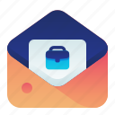business, employment, job, letter, mail icon