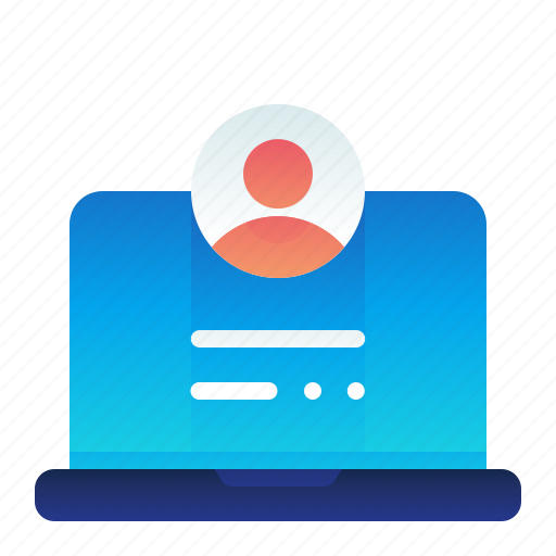 Computer, information, laptop, profile, view icon - Download on Iconfinder
