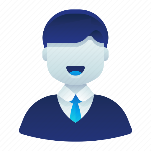 account, business, formal, male, man, user icon
