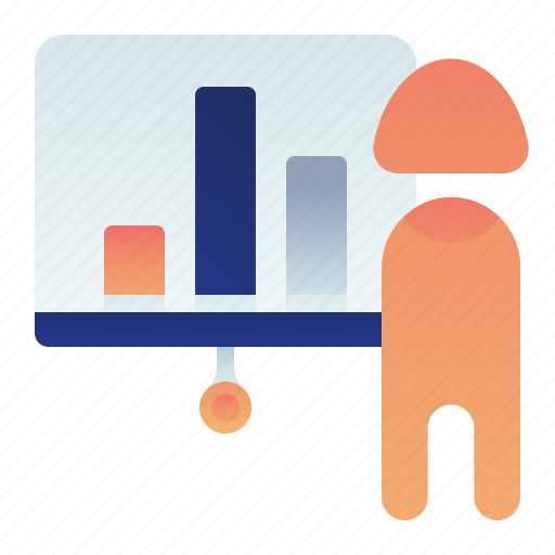 Business, chart, female, presentation, woman icon - Download on Iconfinder