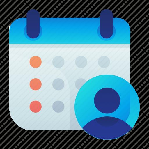 Calendar, male, man, schedule, work icon - Download on Iconfinder