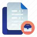 agreement, document, documentation, work, working icon