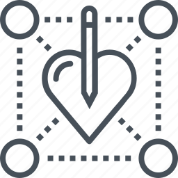 heart, love, pen, pencil, skill, skills, soft skills icon