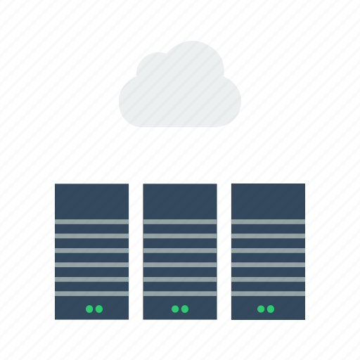 backup, center, cloud, data, servers, storage, sync icon