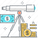 business, finance, forecasting, money, space, stars, telescope