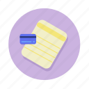 bankbook, card, credit, credit card icon