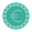 cash, coin, currency, euro icon