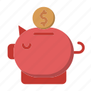 banking, investment, money, piggy bank, savings icon