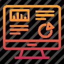 analysis, business, chart, finance, monitoring, screen icon