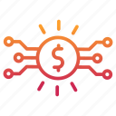 cryptocurrency, digital, dollar, money, payment icon