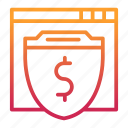 business, protection, secure, shield, transaction, web icon