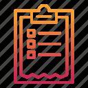 check, checklist, planning, report, survey icon
