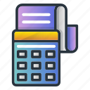 accounting, business, machine, math, payment icon