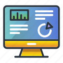 analysis, business, chart, finance, monitoring, screen icon