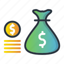 cash, currency, investments, money, payment icon