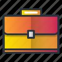 bag, briefcase, case, handle, job