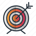 aim, arrow, focus, goal, target