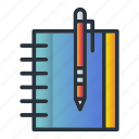 book, note, notebook, office, reminder icon