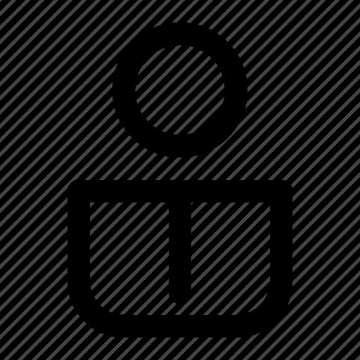 business, chart, finance, humanman, line, person icon
