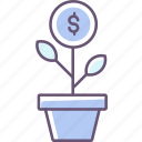 grow, growth, investment, money, profit icon