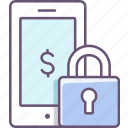 lock, mobile, padlock, phone, security icon