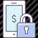 lock, mobile, padlock, phone, security