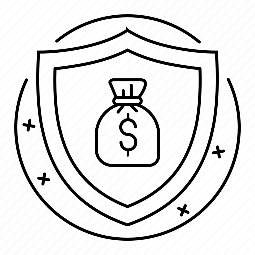 business, finance, protection, safe, shield icon
