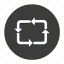 cycle, rebuild, recycle, refresh, transfer icon
