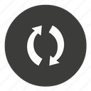 cycle, recycle, refresh, repeat icon