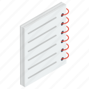 booklet, document, file, writing memo, writing pad icon