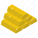 capital, gold bricks, gold stack, asset, gold bar stack icon