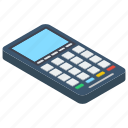 invoice, point of services, pos, pos terminal, cash till icon