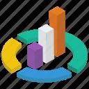 barchart, chart infographic, circle chart, graphic data, modern chart icon