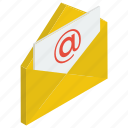 electronic mail, email, email message, mail, message, written correspondence icon