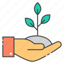 care, growth, plant care, raise, sprout icon