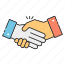 collaboration, deal, fellowship, handshake, partnership icon