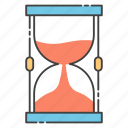 egg timer, hourglass, sand clock, timeglass, timepiece, vintage timekeeper icon