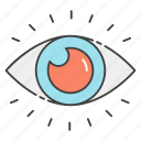 cyber eye, cyber monitoring, cyber security, eye monitoring, mechanical eye icon