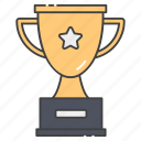 achievement, award, reward, star trophy, victory icon