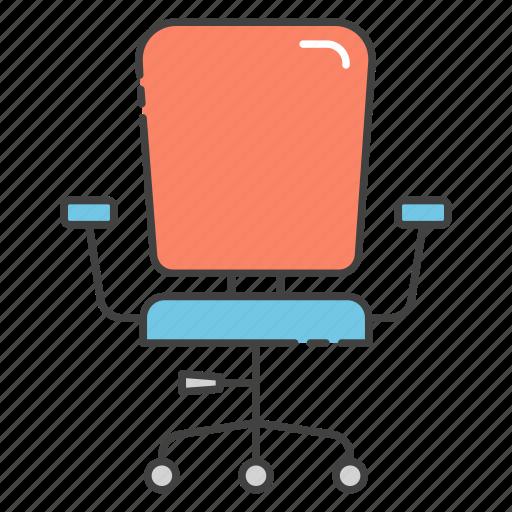 boss chair, chair, office chair, revolving chair, swivel chair icon