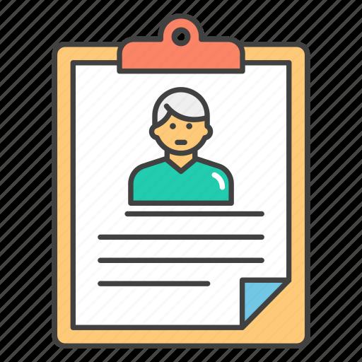 biodata, curriculum vitae, cv, resume, user profile icon
